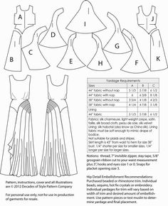 The best DIY projects & DIY ideas and tutorials: sewing, paper craft, DIY. DIY Clothing & Tutorials There aren't enough superlatives to describe this evening gown pattern. Its stunning Art Deco design lines will grabDecades of Style Leading Lady Gown Diy Clothing, Sewing Clothes, Clothing Patterns, Dress Patterns, Fashion Patterns, Techniques Couture, Sewing Techniques, Costume Année 30, Pattern Cutting