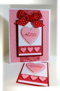 RECIPE Stamps Hearts a Flutter Youre Cherished Paper Pretty in Pink Real Red Whisper White Pattern DSP Ink Real Red Accessories polka dot ribbon rhinestone Tools large he. Valentine Love Cards, Valentine Day Crafts, Printable Valentine, Valentine Wreath, Valentine Ideas, Wedding Anniversary Cards, Wedding Cards, Homemade Valentines, Cool Cards