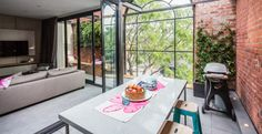 We adore the large exterior window in Kara and Kyle's Outdoor Terrace! #TheBlock