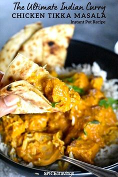 Instant Pot Chicken Tikka Masala! An easy, healthy, one-pot pressure cooker recipe, for a popular Indian curry.  The same rich & creamy taste without using any heavy cream. #spicecravings #chicken #instantpotrecipes Baked Chicken Recipes, Pork Recipes, Cooking Recipes, Cooking Tips, Recipies, Instant Pot Curry Recipe, Chicken Tikka Masala, Indian Curry, Pressure Cooker Recipes
