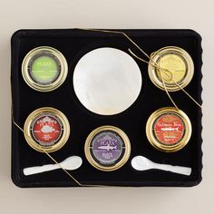 One of my favorite discoveries at WorldMarket.com: Caviar Gift Set, 5-Pack