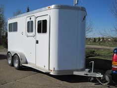 Tandem horse trailer camper conversion.