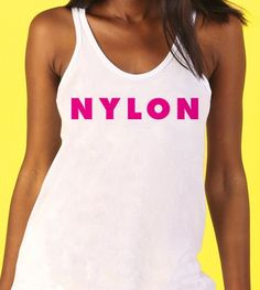 NYLON Logo Tank: http://shop.nylonmag.com/collections/whats-new/products/nylon-logo-tank #NYLONshop