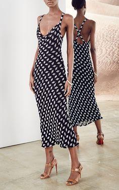 Striped Beaded Chiffon Penelope Dress by CUSHNIE ET OCHS for Preorder on Moda Operandi