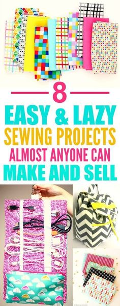 These 8 easy sewing projects you can make and sell are THE BEST! I'm so glad I found this GREAT post! I am DEFINITELY pinning for later!