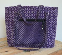 "Shweshwe Bag ""Serena"" Purple/Black/White"