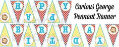 Hey, I found this really awesome Etsy listing at https://www.etsy.com/listing/219280002/printable-curious-monkey-pennant-banner