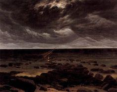 Caspar David Friedrich • Clair de lune sur la mer • Vers 1830