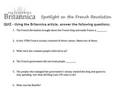 bastille day worksheet