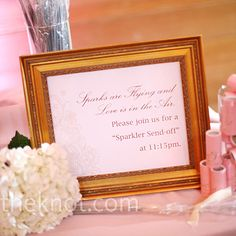 I love the idea of having a display for the sparklers with the font saying 'Love is friendship set on fire.' :)
