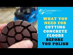 What You Need for Cutting Concrete Floors Before You Polish - YouTube
