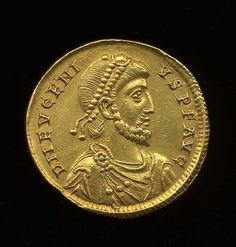 23rd of August 392CE, Eugenius was elected Western Emperor. He was a usurper against Theodosius I. He was the last Emperor to support Roman polytheism.