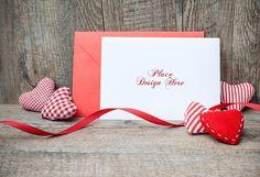 Valentine's Day Card Mockup   MockupWorld