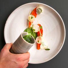 Moderne dänische Küche im Almanak Restaurant im The Standard   creme kopenhagen