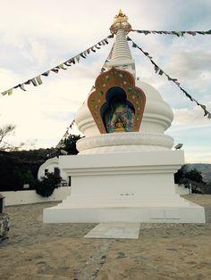 Kalachakra Stupa near Karma Guen, Andalusia, Spain