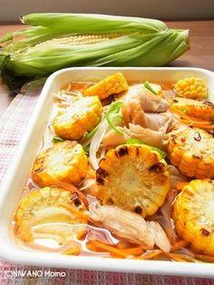 夏の作り置きおかず♪ とうもろこしと焼きささみの野菜たっぷりマリネ|レシピブログ