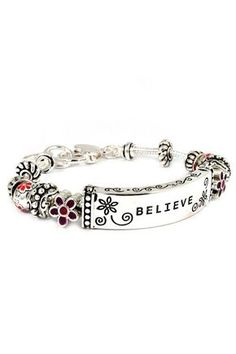 Just Believe Charm Bracelet ♡ someone needs to make this for me! Please!