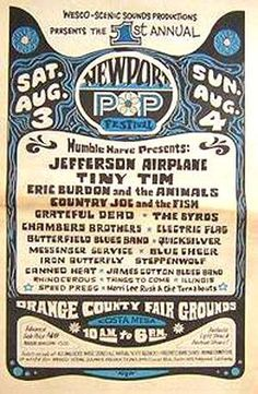 Annual Newport Pop Jefferson Airplane, Tiny Tim, Animals, Grateful Dead, Electric Flag and Grateful Dead Tour, Grateful Dead Image, Advertising History, Advertising Poster, Tour Posters, Music Posters, Theatre Posters, Vintage Concert Posters, Retro Posters
