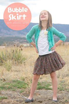 DIY : la jupe boule à taille élastique