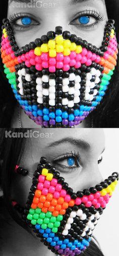 Rainbow Rage Kandi Mask