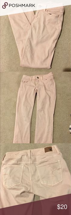 American Eagle pale pink pants Barely worn American eagle jegging superstretch pale pink pants American Eagle Outfitters Pants