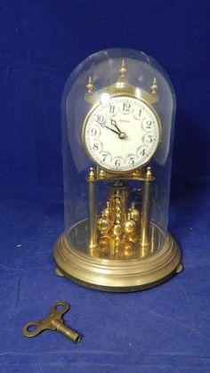 1964 Kundo Kieninger & Obergfell Hudson Dome Anniversary Clock w/Key W. Germany