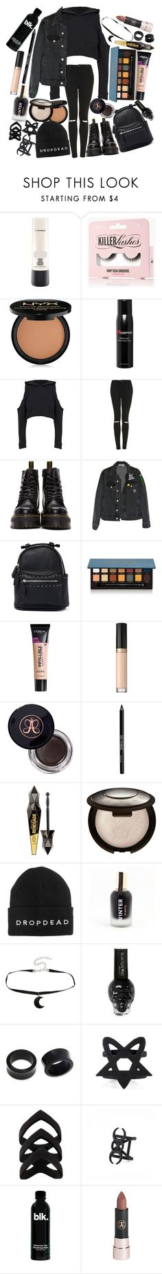 """Everything has fallen to pieces, earth is dying help me Jesus. We need guidance, we've been misled, young and hostile, but not stupid"" by thelyricsmatter ❤ liked on Polyvore featuring MAC Cosmetics, NYX, Morphe, Topshop, Dr. Martens, Like Dreams, Anastasia Beverly Hills, L'Oréal Paris, Urban Decay and Becca"