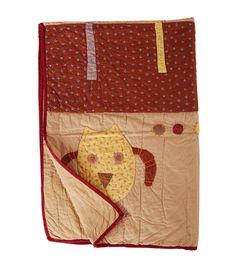 Beige Patch Work Cotton Quilt @indianroots