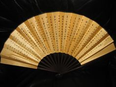 """Classic Chinese Hand-Crafted Fan. The back quotes the famous """"Lun Yu"""" by Confucius in Chinese calligraphy"""