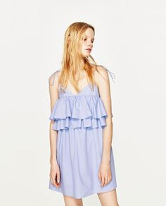 aae9fd542d2e Image 2 of STRAPPY DRESS WITH FRILLS from Zara Zara Dresses