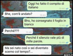 Oggi ho fatto | BESTI.it - immagini divertenti, foto, barzellette, video Funny Chat, Funny Jokes, Funny Images, Funny Photos, Italian Memes, Serious Quotes, Funny Scenes, Bff Quotes, Funny Messages