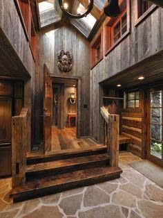 Rough Cut Lumber Ideas, Pictures, Remodel and Decor Love this for the inside of the lodge with modern touches in the rooms Cabin Homes, Log Homes, Cabin Design, House Design, Rustic Design, Country Builders, Barnwood Builders, Rough Cut Lumber, Cabin In The Woods