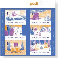 In this digital time receiving a letter might be rare, but what would be better than receiving mail with a Moomin stamp on it? Tove Jansson, Bujo, Moomin Books, Moomin Shop, Office Stamps, Museum Exhibition, Stamp Collecting, S Pic, Postage Stamps