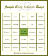 Writable Bingo Card Monkey Swing Jungle Safari Zoo | Zoos, Monkey And Swings