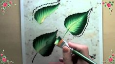 Thorough demonstration of painting ruffled leaves. It's in French but it won't matter - just keep an eye on the pressure used on the brush and how the pressure is released and the brush turns slightly, when nearing the tip of the leaf.
