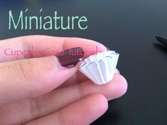 How to make a miniature paper cupcake case. You can fill it with tls mixed with clay, or silicone, polymer clay may not fit as well, Enjoy! :) I N S T A G R ...
