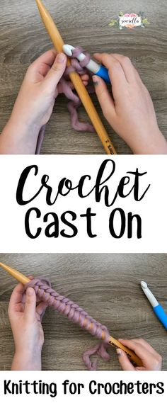 Learn to knit for crocheters with the crochet cast on! Learning to knit has never been so easy | Free video tutorial from Sewrella