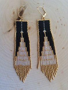 Rocailles perles Boucles d'oreilles Gastby Art déco par Bead4Fun