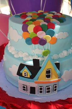 Amazing UP Birthday Party cake! See more party ideas at CatchMyParty.com!