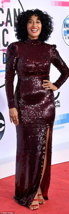 Here she is! Black-ish star Tracee Ellis Ross is hosting the ceremony with mom Diana Ross ...