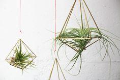 DIY Geometric Planters Closer