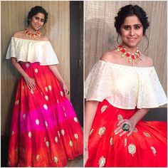 "1,696 Likes, 6 Comments - @afashionistasdiaries on Instagram: ""@saietamhankar  Outfit - @smitashaofficial  Jewelry - @justjeweleryindia  Styled by -…"""