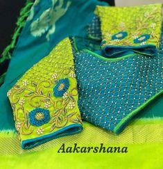 No photo description available. Wedding Saree Blouse Designs, Best Blouse Designs, Pattu Saree Blouse Designs, Blouse Neck Designs, Lehenga Blouse, Dress Designs, Blouse Styles, Hand Work Blouse Design, Stylish Blouse Design