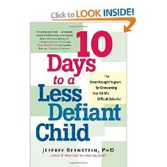 10 Days to a Less Defiant Child is definitely one of my go-to books on dealing with defiant behavior.
