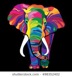 Colorful Elephant Vector Illustration Stock Vector (Royalty Free) 498352402 : Discover this and millions of other royalty-free stock photos, illustrations, and vectors in the Shutterstock collection. Thousands of new, high-quality images added every day. Elephant Artwork, Elephant Quilt, Elephant Paintings, Colorful Animal Paintings, Colorful Animals, Animal Drawings, Art Drawings, Arte Tribal, Tribal Art