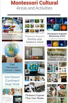 Montessori Cultural Areas and Activities for Multi-Level Learning Montessori Education, Montessori Activities, Preschool Activities, Early Education, Childhood Education, School Plan, Steam Activities, Winter Crafts For Kids, Toddler Preschool
