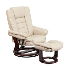 Aby Leather Recliner Chair Amp Ottoman Recliner Ottomans