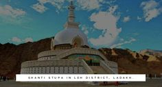 #ShantiStupa is a #Buddhist white-domed stupa on a hilltop in #Chanspa #Leh district #Ladakh. #Shanti #Stupa is situated at a height of 4267 meters overlooking the Leh city it gives a panaoromic view of surrounding #snow capped #mountains. #jkinside #india #incredibleindia