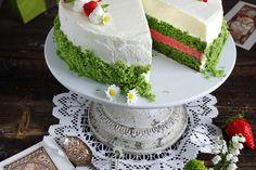 Schoko - Bananentorte mit Stracciatella-Mousse - Zungenzirkus Fun Nails, Vanilla Cake, Deserts, Food And Drink, Cooking Recipes, Kitchens, Food Cakes, Recipes, Kochen