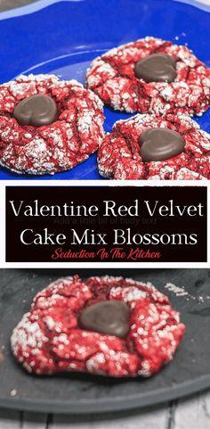 Valentine Red Velvet Cake Mix Blossoms! :-)